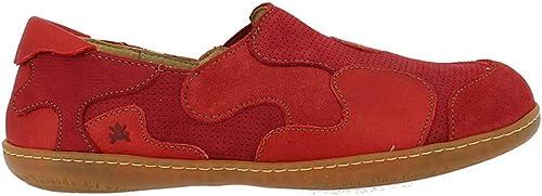 El Naturalista N5283 Multi Leather Leather Leather Tibet EL Viajero Rouge Femme Chaussures élastique 4ff