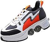 Patines de la rueda deforma Patines de rodillos Invisible Roller Skate Parkour Zapatos Deformación casual Zapatillas de deporte para exteriores Zapatos para caminar automáticos para niños / niñas