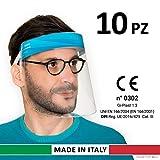 Gi-Plast Visiera Protettiva Paraschizzi Made In Italy Dispositivo di Protezione Individuale cat.III CE conf 10 Pezzi