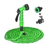 Milopon Flexibler Gartenschlauch,Gartenschlauch Werkzeug Hochdruck Autowaschwasserpistole Set Bewässerung Magie Teleskopschlauch Ausrüstung 15M/30M/38M/60M