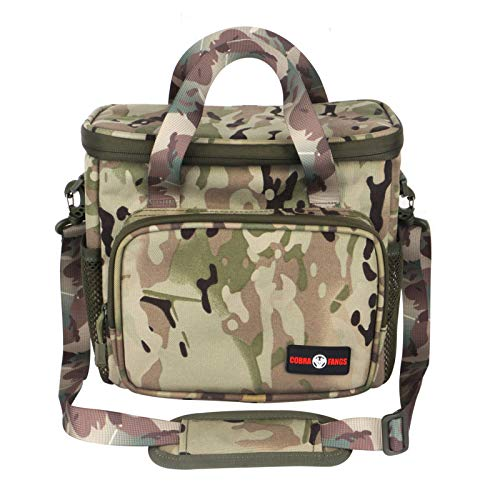 ToopMount COBRA FANGS Insulated Lunch Bag Large Tactical Picnic Bag Aluminum Foil Lining Nylon Waterproof Adjustable Shoulder Strap for Outdoor/Camping/BBQ/Travel