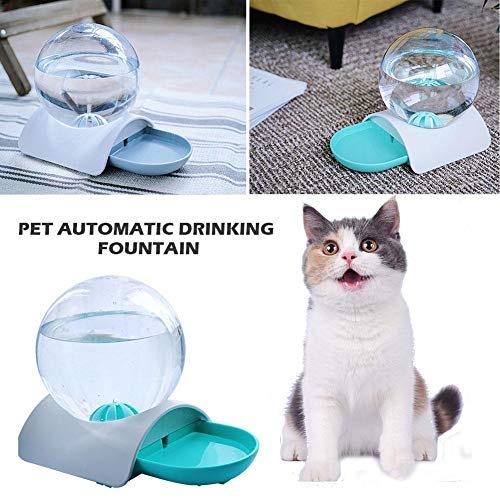 Red-eye Cat Water Fountain - 2.8L Pet Automatic Drinking Fountain with Spherical Water Bottle Drinking Bowl Cat Water Feeder Dispenser for Cats, Dogs, Multiple Pets