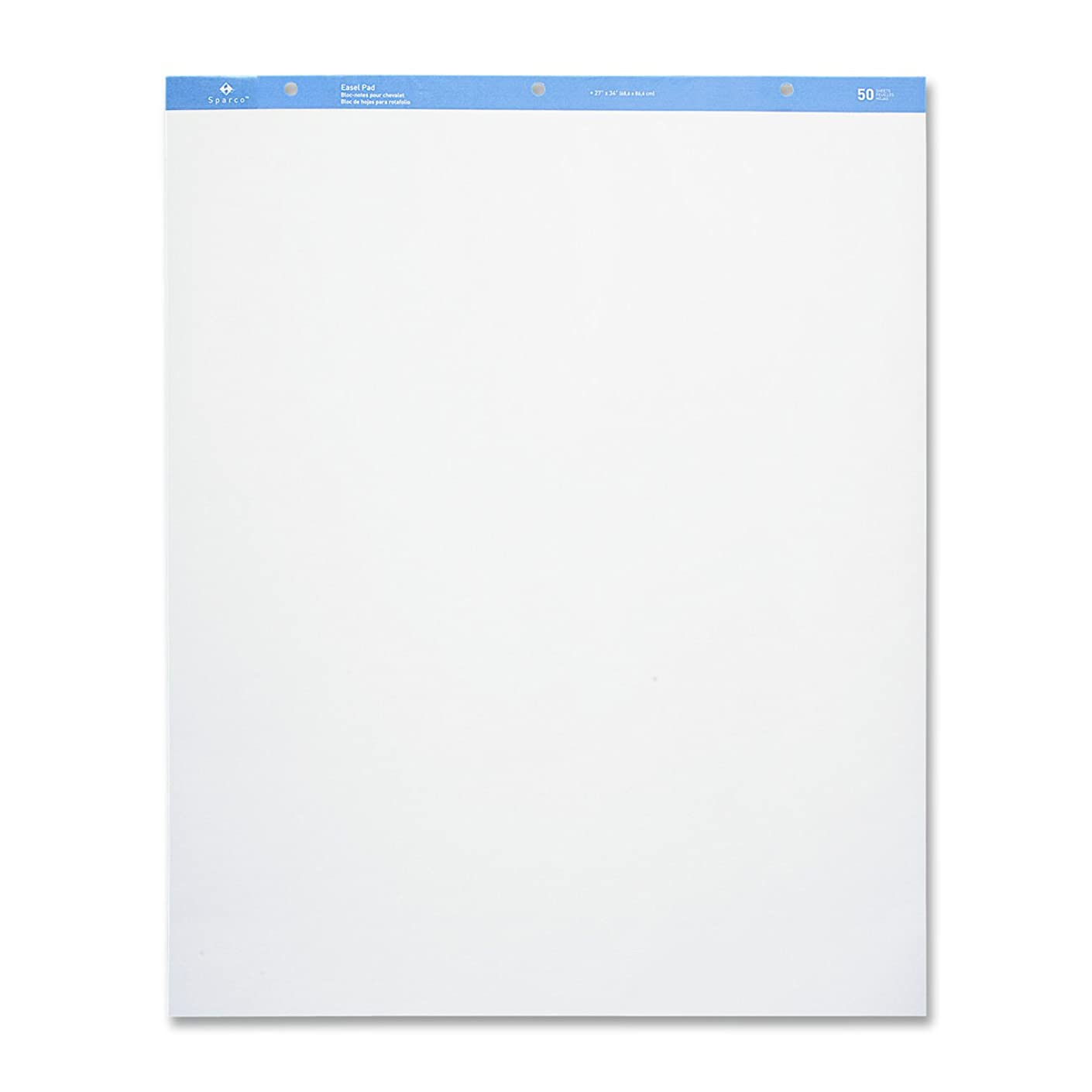 Sparco Standard Easel Pad, Plain, 27 x 34 Inches, 50 Sheets, 2 Count, White (SPR52734)