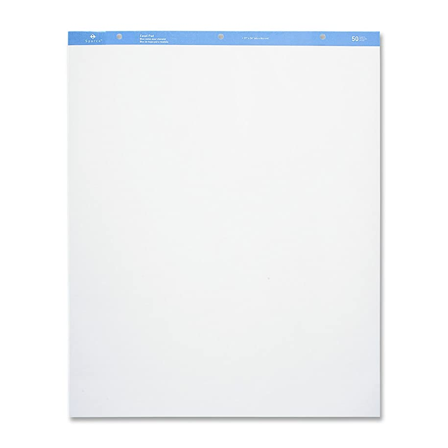 Sparco Standard Easel Pad, Plain, 27 x 34 Inches, 50 Sheets, 2 Count, White (SPR52734) renfy494012569