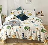 GETIYA 【Último 】 Dino ropa de cama 135 x 200 para niños, diseño de dinosaurios, funda...