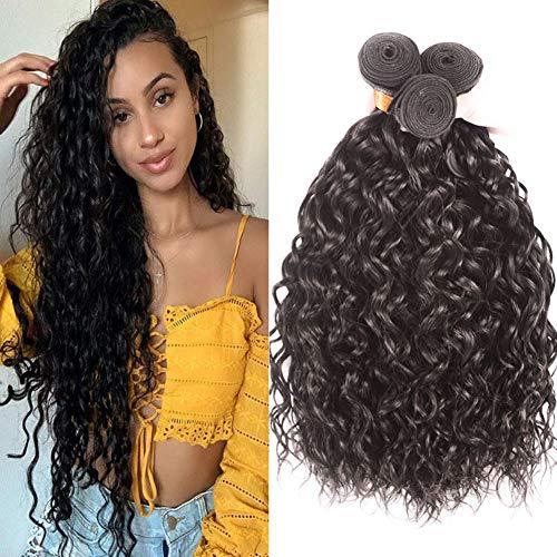 Water Wave Bundles(12 14 16 inch) Wet and Wavy Bundles 100% Unprocessed Brazilian Virgin Human Hair Bundles Natural Color 6 inch) Wet and Wavy Human Hair Bundles