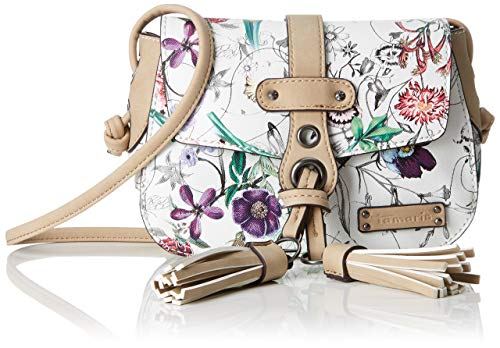 Tamaris Adelia Crossbody Bag S - Borse a tracolla Donna, Bianco (Off White Comb), 6x13x19 cm (W x H L)