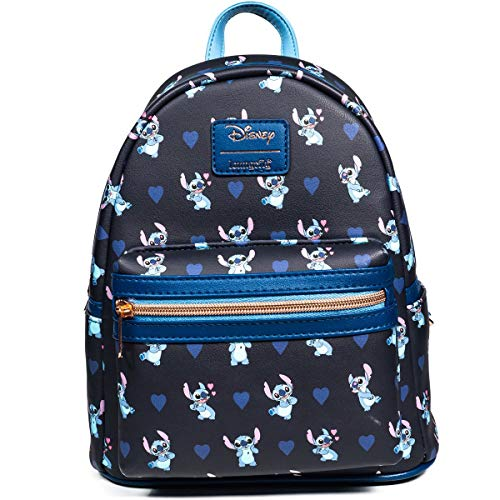 Loungefly Disney Lilo & Stitch - Stitch Hearts Mini-Backpack (Entertainment Earth Exclusive)