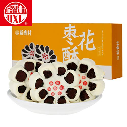 Daoxiangcun characteristic pastries, snacks, biscuits, jujube crispy稻香村 特色糕点 休闲点心 零食饼干 枣花酥210g (pack of 2)