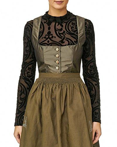 Lalia body/blouse dirndlblouse dirndlbody kan ook zonder dirndl worden gedragen zwart fluweel lange mouwen super modern extravagant klederdrachtblouse zwart transparant