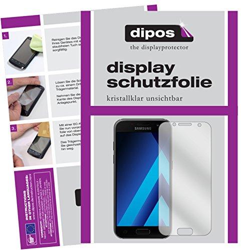dipos I 2X Schutzfolie klar kompatibel mit Samsung Galaxy A5 (2017) Folie Bildschirmschutzfolie