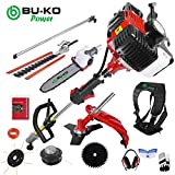 BU-KO 2019 52cc Long Reach Petrol Multi Functional Garden Tool Including: Strimmer, Hedge Trimmer,...