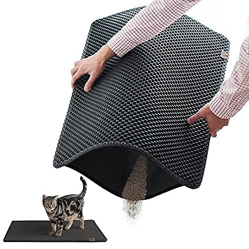 BlackHole Cat Litter Mat - Extra Large (30' X 23') Double Structured Mat (Dark Grey)