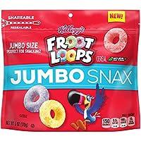 Kellogg's Froot Loops Jumbo Snax, Cereal Snacks, Original, 6 Oz / ケロッグ フルーツループ ジャンボ シリアルスナック 170 g [並行輸入品]