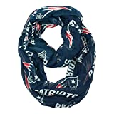 "Littlearth womens NFL New England Patriots Sheer Infinity Scarf Standard Color, 70"" H x 25"" W"