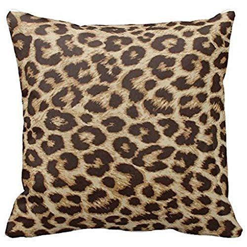 Dana34Malory - Federa decorativa per cuscino, motivo leopardato, 45 x 45 cm