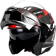 1Storm Motorcycle Modular Full Face Helmet Flip up Dual Visor/Sun Shield Racing Red