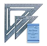 Swanson Tool Co SW1201K Value Pack 7 inch Speed Square and Big 12 Speed Square (without layout bar) ships with Blue Book