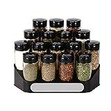 SHUMEISHOUT Hwshop - Tarro de condimentos, recipiente de especias para cocina, vaso de cocina, juego de mesa de escritorio, más refrescante y multifunción, para condimentos (color: negro)