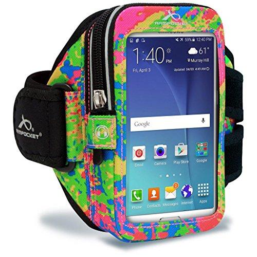 Armpocket® Ultra i-35 Armband für iPhone 6, Samsung Galaxy S5, Galaxy Note 2/3 oder vergleichbar große Telefone bis 152mm Höhe (M (Armumfang 25-38cm), Splash)