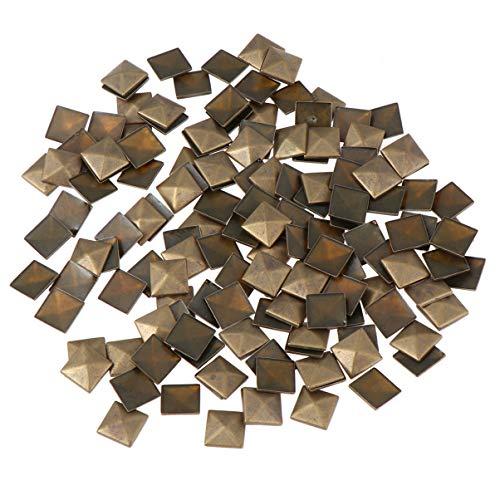 Healifty 100pcs tachuelas planas remaches de cuero tachuelas pegamento en tachuelas para bolsos artesanales ropa cinturón zapatos bronce