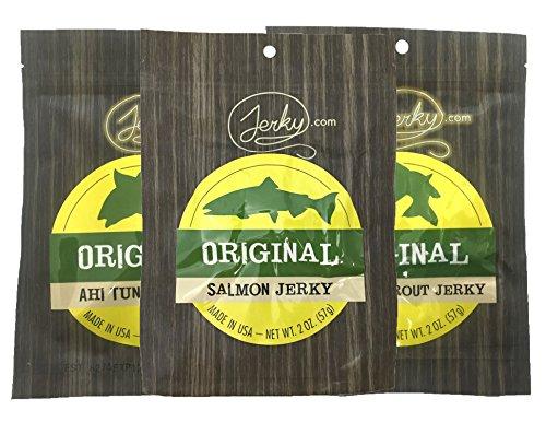 All Natural Fish Jerky Sampler - TESTER 3 PACK - Tuna Jerky,...