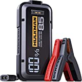 HULKMAN Alpha85 Jump Starter 2000 Amp 20000mAh Car Starter for up to 8.5L Gas and 6L Diesel Engines with LCD Display 12V Lithium Portable Car Battery Booster Pack