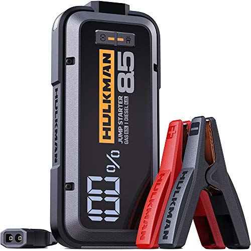 HULKMAN Alpha85 2000A Peak 20000mAh Jump Starter Booster Pack  $80 at Amazon