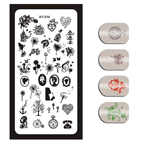 Love^Store - nail - Gear Clock Tem1Nail Stencils Nails Art Temfor Nail Manicure Image - by Love^Store - 1 PCs