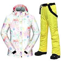 スキー服 スキースーツ女性-30□女性熱防風防水雪のジャケットとパンツスキーやスノーボードのスーツ スキースーツ (Color : D, Size : L)