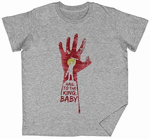 Baby Hail To The King Gris Niños Chicos Chicas Camiseta Unisexo Tamaño M Grey Kid's Boys Girls tee Size M