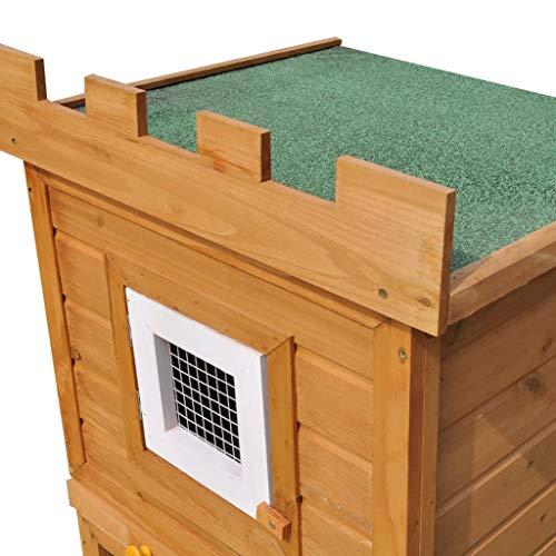 vidaXL Kaninchenstall Hasenstall Kaninchenkäfig Hasenkäfig Hasenschloss Hamsterstall - 6