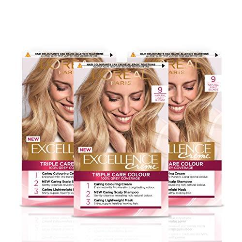 L'Oréal Paris Excellence Crème Permanent Hair Dye, Radiant At-Home Hair...