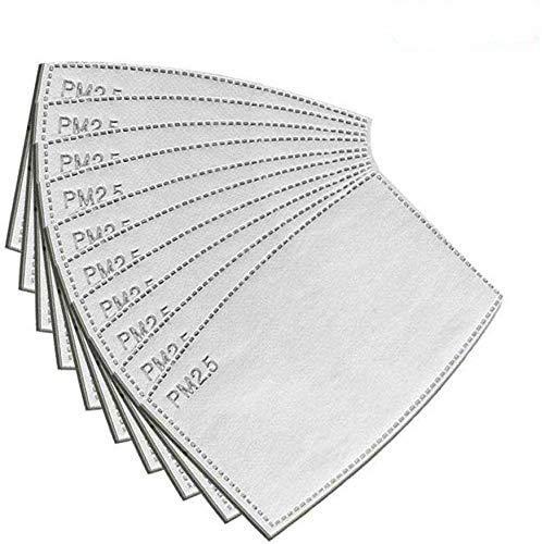Avalita 10/30/50 Piezas PM2.5 Filtro Protector 5 Capas reemplazables antiniebla filtros para mascarillas bucales