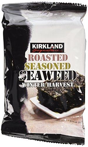 10 Pack Kirkland Signature Roasted Seasoned Seaweed Winter Harvest- 17gm Package