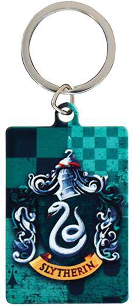 Harry Potter Slytherin Metal Keychain (One Size) (Green)