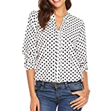NREALY Blusa Womens Polka Dots 3/4 Sleeve Blouse Tops...