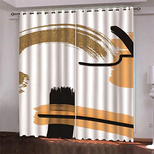 MMHJS Hotel Dormitorio Sala De Estar Balcón Cortinas Opacas Poliéster Engrosado Aislamiento Acústico Cortina De Partición Sanitaria Impermeable Y Resistente A Las Manchas 2 Piezas