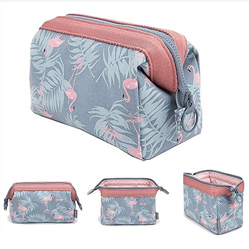 Makeup Bag/Travel Cosmetic Bags/Brush Pouch Toiletry Kit Fashion Women Jewelry Organizer with Zipper Flamingo Make-up Carry Case Pencil Holder Portable Cube Purse (Flamingo small)