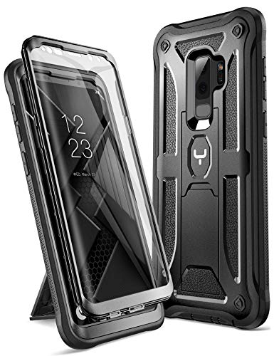YOUMAKER Galaxy S9+ Plus Case, Kickstand Case with Built-in Screen...