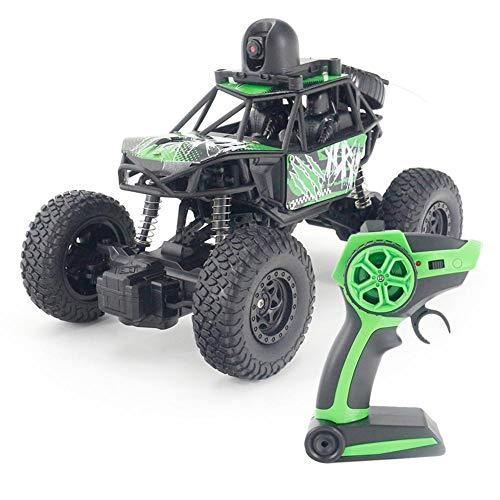 Janny-shop 2.4 GHz Control Remoto Coche 1:22 2WD Vehículo Eléctrico Todoterreno Camión de Escalada de Alta Velocidad con Cámara 720P WiFi VR Perspectiva