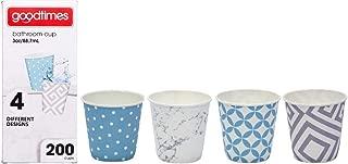 Goodtimes Bathroom Cups, 3 oz 200 ea, Assorted designs (1, Contemporary)