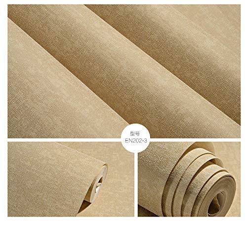 VLING Einfache einfache Nachahmung Kieselalge Schlamm Schlafzimmer Wohnzimmer Vliestapete Tapete, Spezifikationen: 53X950cm @ EN202-3 Licht Kaffee Farbe