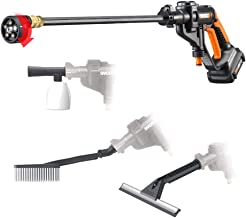 WORX WG629.1 Hydroshot 20V PowerShare 2.0 Ah 320 PSI Cordless Portable Power Cleaner with..