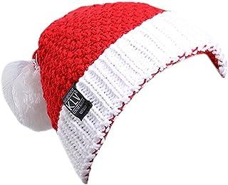 ACVIP Men Women Santa Claus Christmas Warm Beanie Hat with Pom Pom