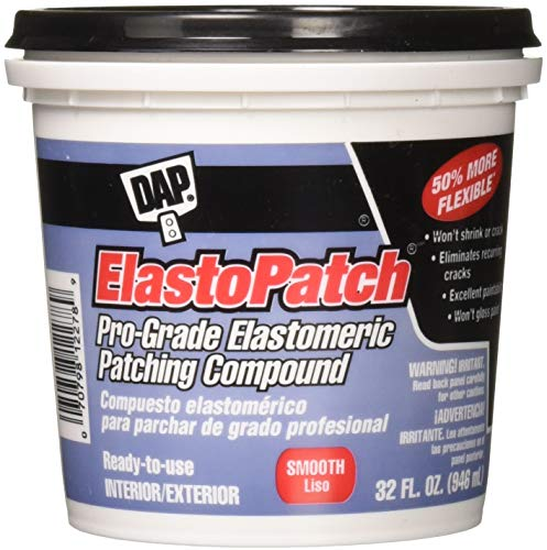 Dap 12278 Elastomeric Patch and Caulking Compound, 1-Quart Tub, Packaging may vary,White