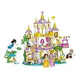 Intervic Set Bloques Ladrillos de Construccion de Juguete Castillos Palacios Princesa Sirena Ariel de Caricaturas con Personajes de Peliculas 466+Piezas