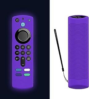 HUImiai Anti-Drop Soft Silicone Case for Alexa Voice Remote (3rd Gen), Silicone Cover Case for Fire TV Stick(2021 Releas...