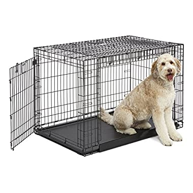 MidWest Homes for Pets Ovation Trainer Dog Crate, 48  Long, Black