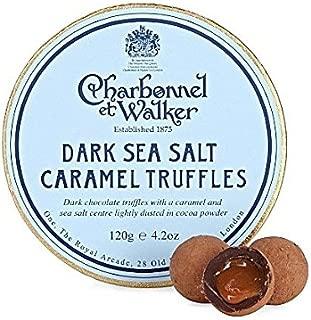 Charbonnel et Walker Dark Sea Salt Caramel Truffles, 4.2 Ounce